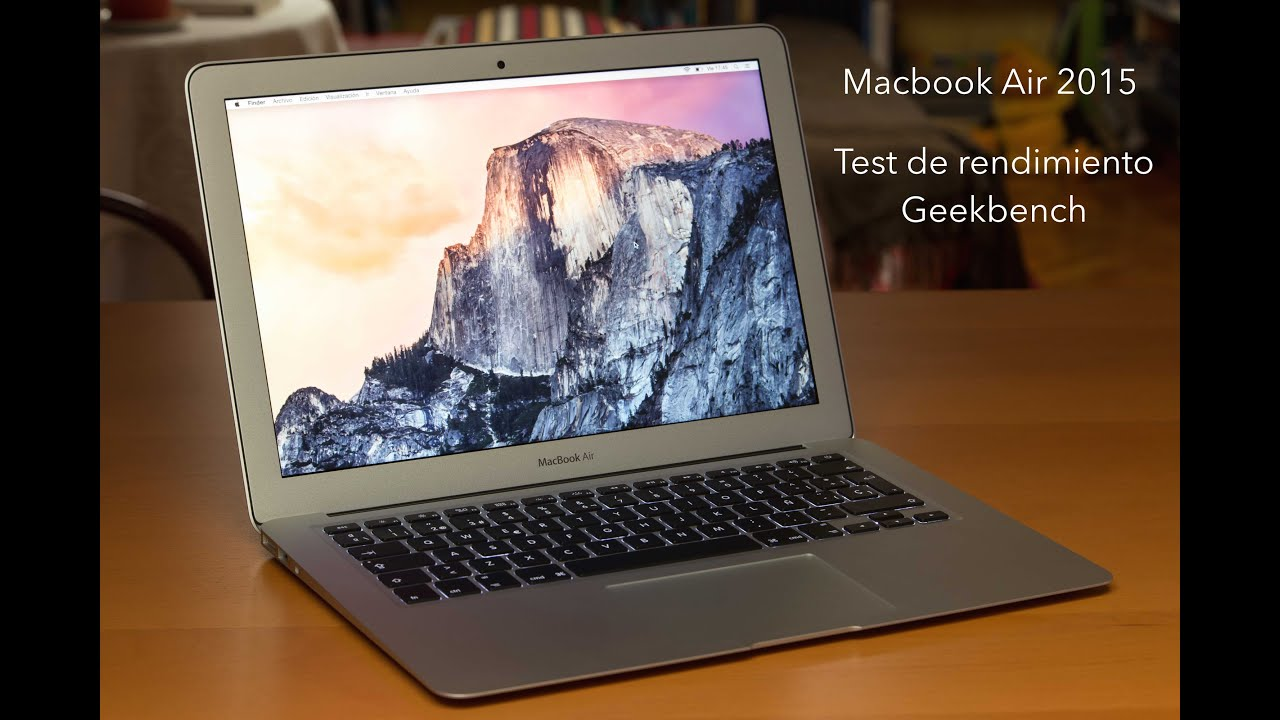 macbook air 13 39 39 2015 test de rendimiento geekbench youtube. Black Bedroom Furniture Sets. Home Design Ideas