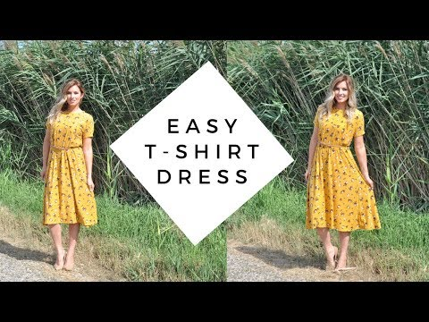 DIY Dress Tutorial // Sew A Dress Without A Pattern