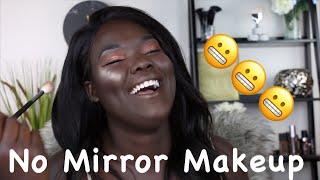 No Mirror Makeup Challenge || Nyma Tang