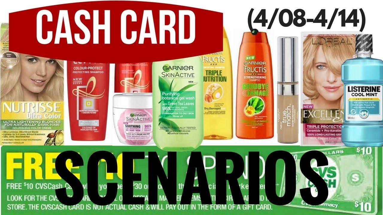 Cvs Cash Card Scenarios 408 414 Free Hair Care Hair Color Deals