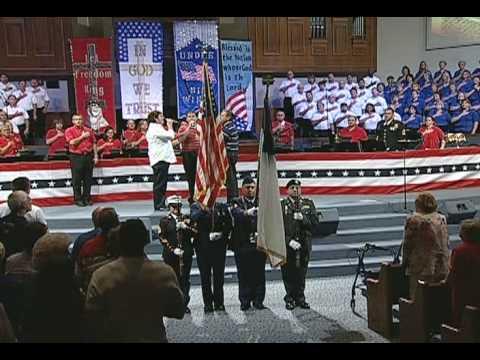 Calvary's Voice Singing Natioal Anthem At NJBC GOD & COUNTRY 2008