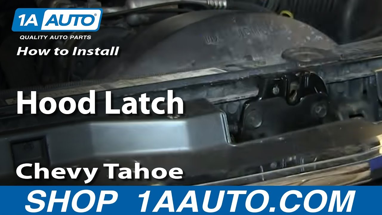 how to install replace hood latch 1995 99 chevy tahoe gmc yukon youtube [ 1920 x 1080 Pixel ]