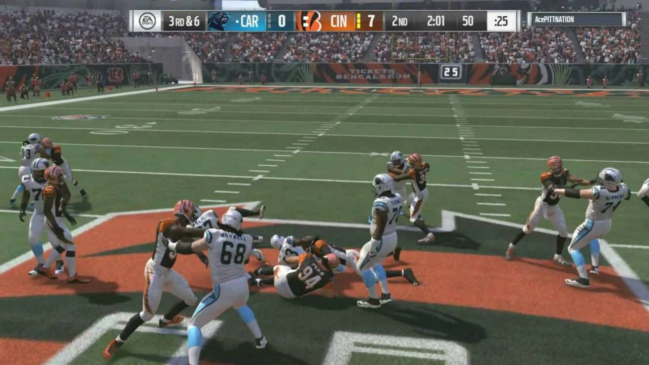 67932dc9 Madden 17 :: Insane Ending! Bengals Vs. Panthers! ::-XBOX ONE Madden NFL 16  Online Gameplay