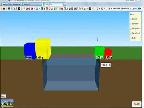 Lesson on density and instructions for PhET simulation lab on ...