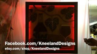 "Kneeland Designs - ""vino"" 3d Woodwork Led Lighting Demo"