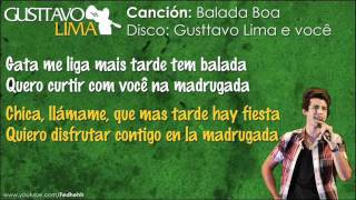 Gusttavo Lima - Balada Boa [Letra en Español/Portugués]