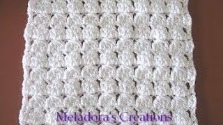 Repeat youtube video Cluster Stitch Scarf - Crochet Tutorial