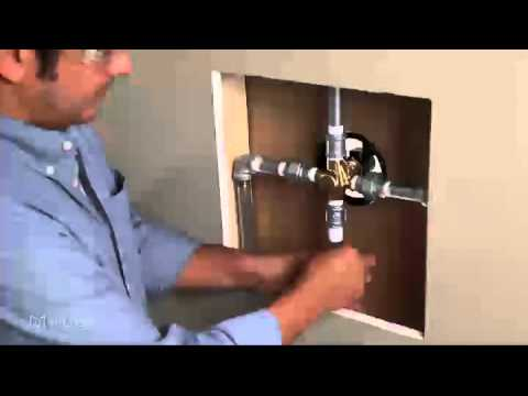 installing a onehandle positemp shower valve ips to ips