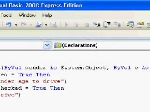 Visual Basic Tutorial - 9 - Radio Button & Check Box