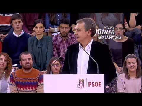 Pedro Sánchez en Gijón con José Luis Rodríguez Zapatero, Javier Fernández y Adriana Lastra