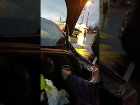 12 31 18 Tesla Model 3 rain water leaking in trunk