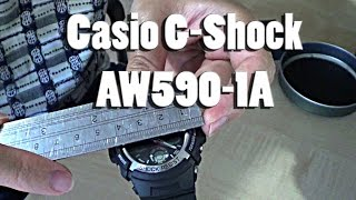 casio g shock 4778 aw590 watch unboxing and first look