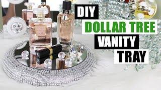 DIY DOLLAR TREE VANITY TRAY Dollar Store DIY Bling Perfume Tray DIY Glam Home Decor
