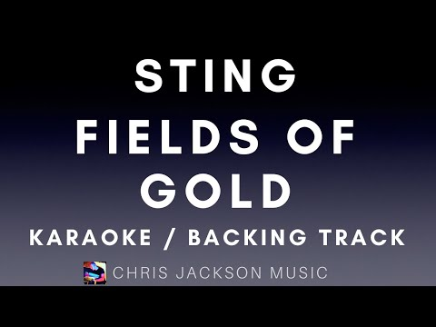 Sting - Fields of Gold Backing Track / Karaoke FREE