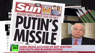 Talking headlines: Tabloids, TV, McCain blame Putin for Malaysia MH17 tragedy