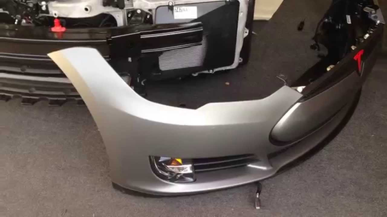 Tesla Model S Front Bumper 4 Tone Carbon Matte Gloss Avery Vehicle Wrap  Parking Sensor