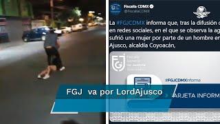 La Fiscalía de la CDMX atendió la denuncia de un usuario en redes sociales, quien difundió un video en el que un hombre mantiene sometida a una mujer en calles de Coyoacán