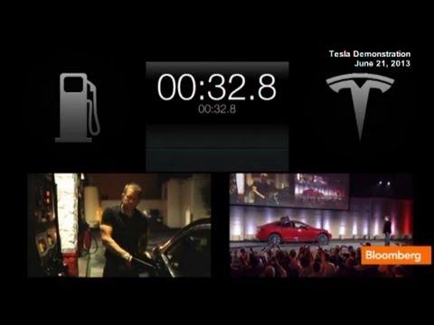 Elon Musk Demos Tesla Beating Audi in Refueling Contest
