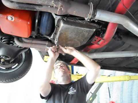 How To Change Oil Filter >> th350 transmission filter change on the 67 chevelle pt2 - YouTube
