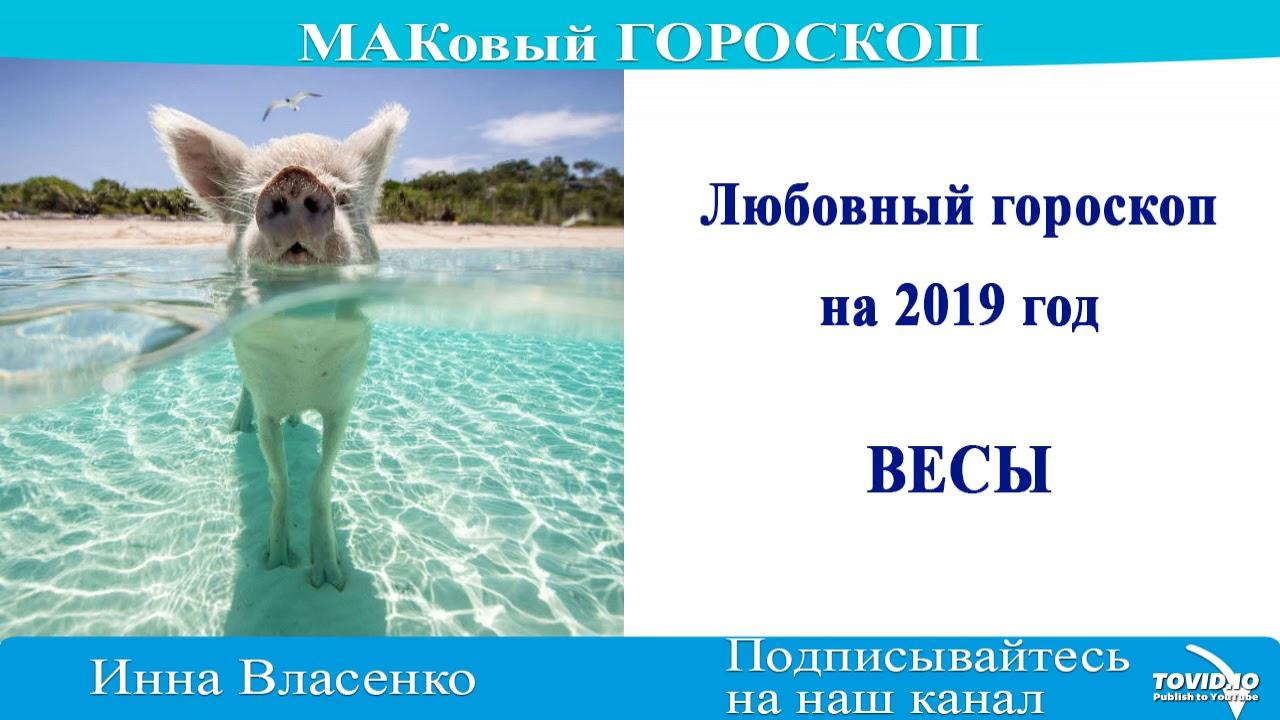 ВЕСЫ – любовный гороскоп на 2019 год МАКовый ГОРОСКОП от Инны Власенко