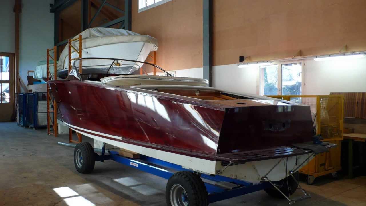 Mahagoni holzboot  Boesch 590 Barefoot Restauration und Reparatur by Boesch Classic ...