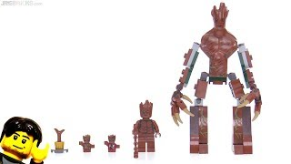 LEGO Marvel Super Heroes GROOT figures compared