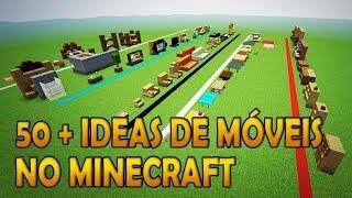 50+  ideias de MÓVEIS no MINECRAFT!!!  (50+ Minecraft Furniture ideas )