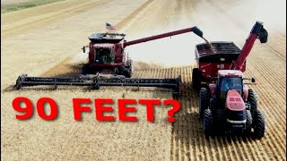 Harvesting Wheat 90 Feet at a Time | Fast Ag Montana