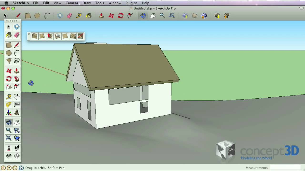 SketchUp Tips and Tricks: Perspective vs  Parallel Projection