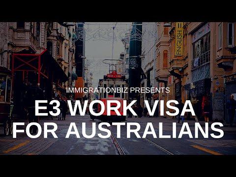 Visa to the USA | E3 work visa for Australians vs H1B work visa