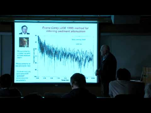 Allan D. Pierce presents at a WHOI seminar