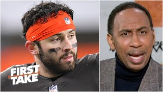 Stephen A. defends Baker Mayfield for clapping back on Twitter about Deshaun Watson | First Take