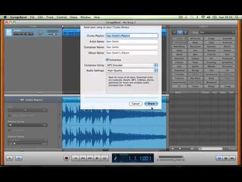 how to save garageband files as mp3