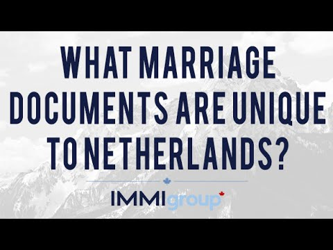What Marriage Documents are Unique to Nettherlands?