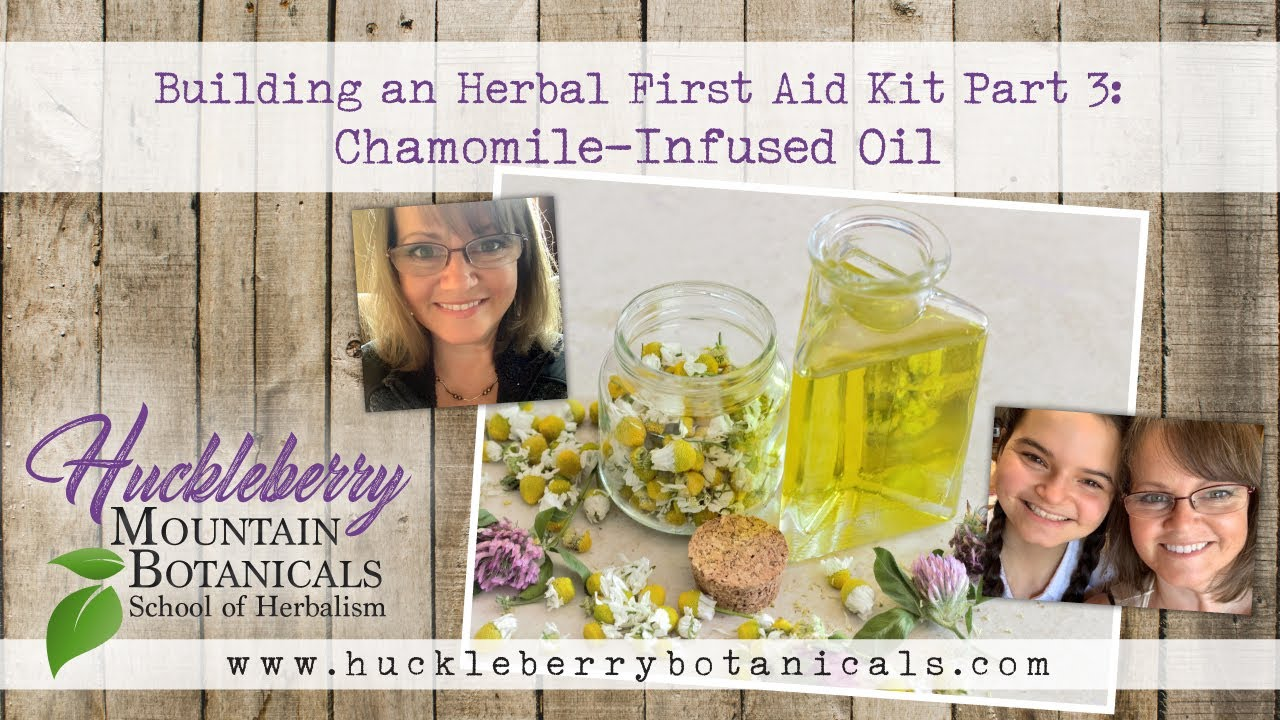 Building an Herbal First Aid Kit Part 3: Chamomile-Infused Oil #Herbalmedicine