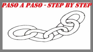 Como dibujar una Cadena paso a paso l How to draw a String step by step