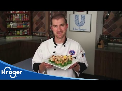 How To Make Grilled Swordfish Kabobs | In The Kitchen With Kroger | Kroger
