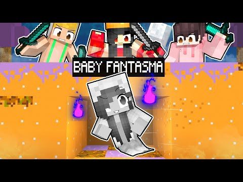 3 GIOCATORI CONTRO 1 BABY FANTASMA SU MINECRAFT!