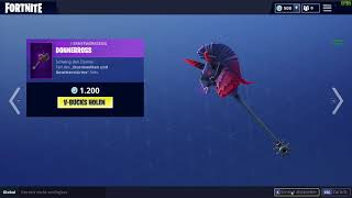 Fortnite Thundercrash / Donnerros Pickaxe EPIC 1200 Vbucks