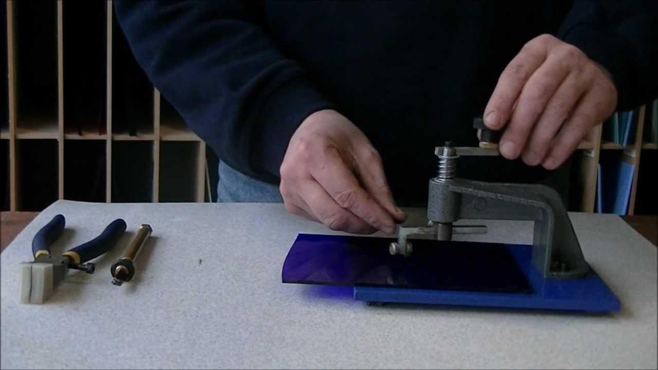 Bekend Kleine glas rondjes snijden (lenzen snijder) - YouTube BI36