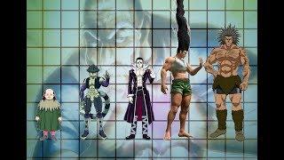 Hunter x Hunter characters size comparison