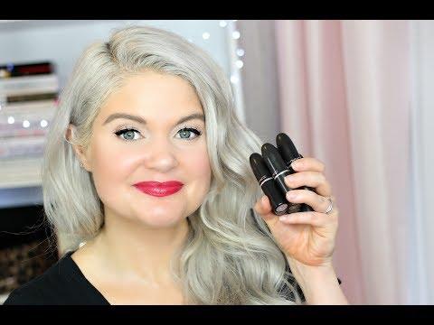 MAC Lipstick Collection Reviews   Comparing MAC Lipstick Formulas