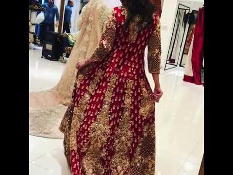 Nikah Anarkali Trail Bridal Dulhan Pakistani Dress New Valvet 2019 Collection by voguemart5 Sakshi