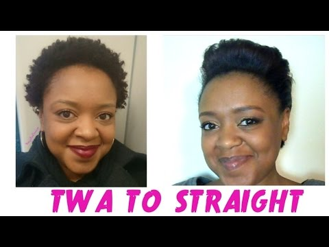 how to style straightened hair from coily to straightening my 6096