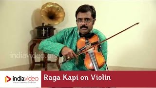 Raga Kapi on Violin - Carnatic instrumental by Jayadevan | India Video