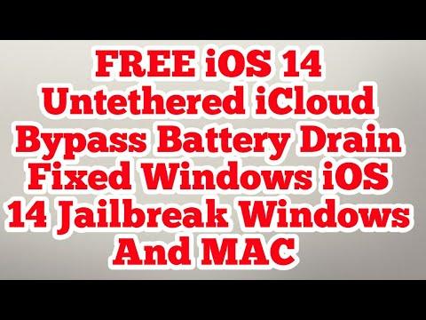 iOS 14 Untethered icloud bypass FREE Windows iOS 14 Jailbreak Windows and MAC Battery Drain Fixed