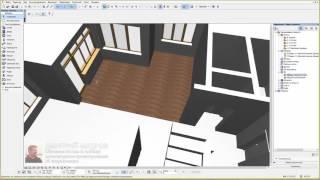 Как сделать полы в 2d в архикаде 2 - Дизайн дома в Archicad 12/26