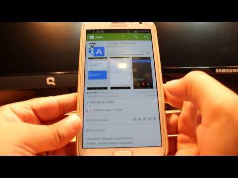 Google Translate install to Samsung Galaxy note 2