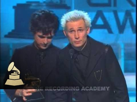 Green Day accepting the GRAMMY for Best Rock Album at the 47th GRAMMY Awards | GRAMMYs