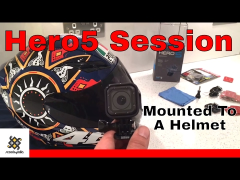 Best Way To Mount GoPro Hero5 Session To A Motorcycle Helmet